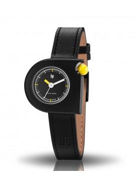 Mach 2000 mini noire couronne jaune bracelet cuir noir