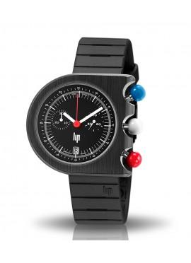 Mach 2000 chrono bracelet caoutchouc boutons tricolore