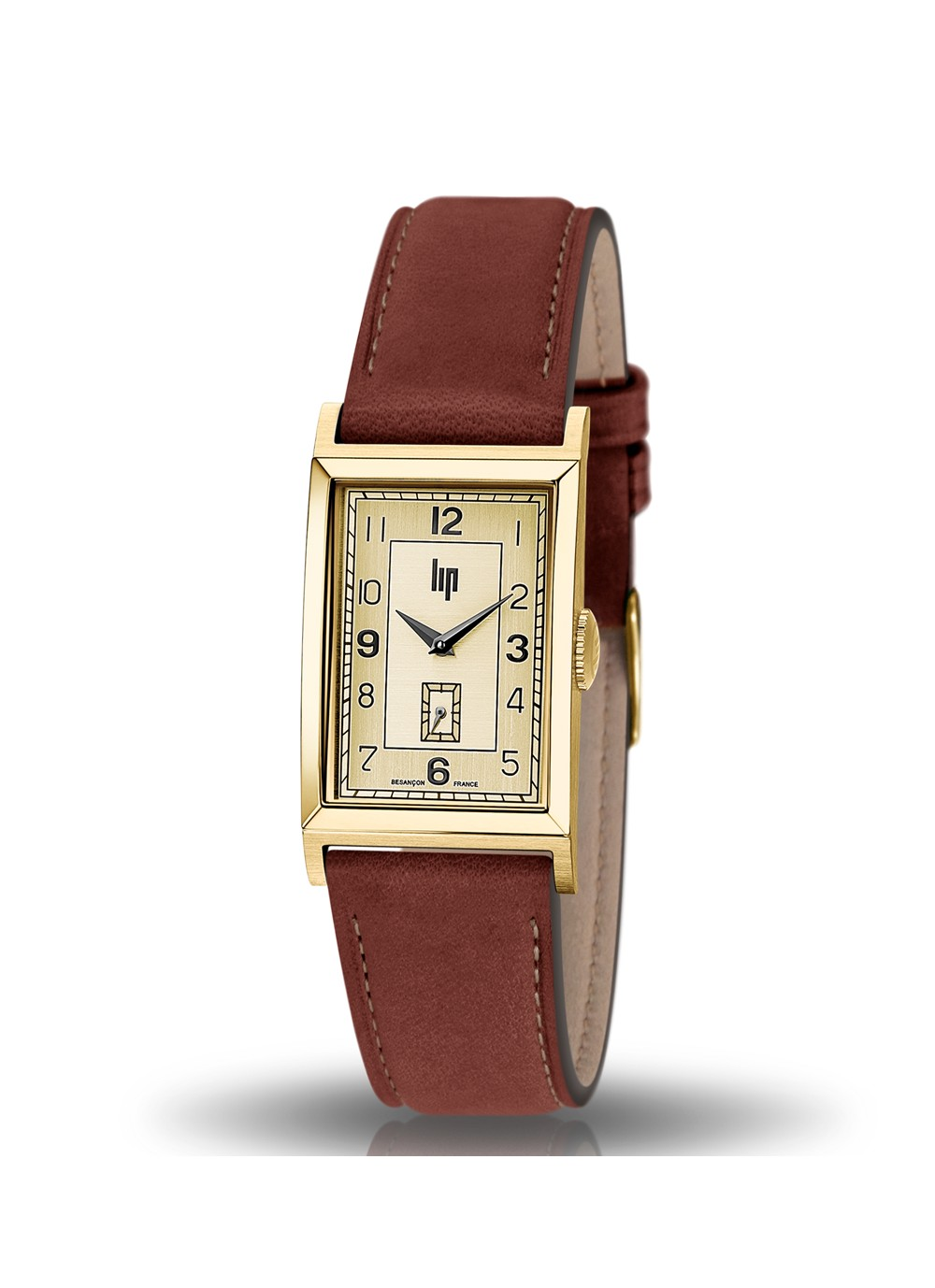 T18 doré cuir marron 671014