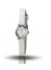 Henriette chromé bracelet cuir blanc