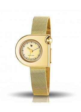 Mach 2000 demie lune toute dorée bracelet milanais doré