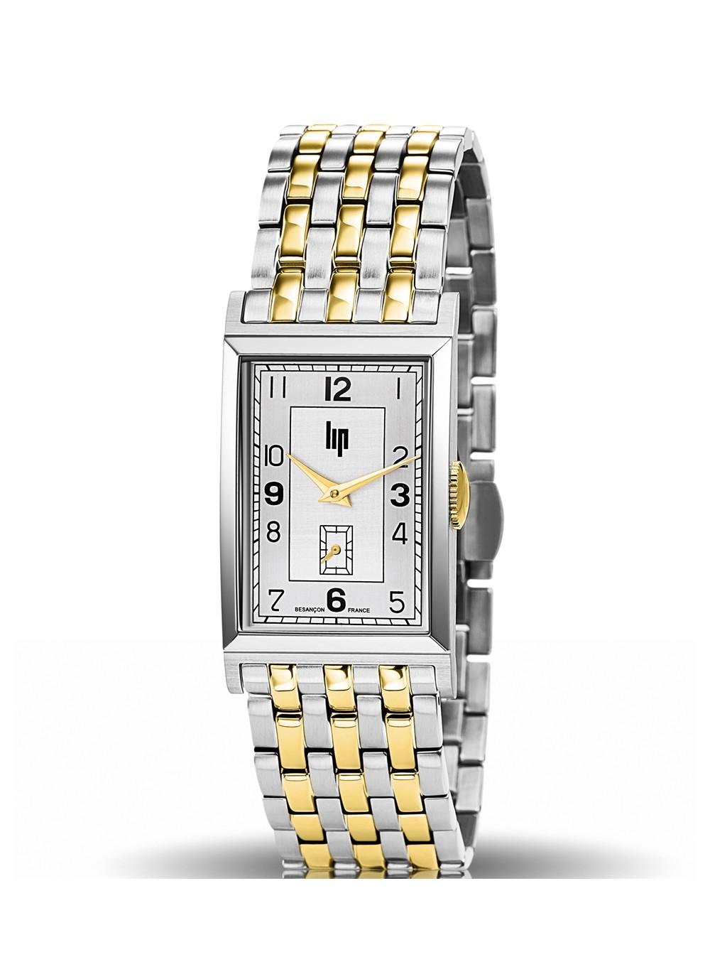 T24 bracelet métal bicolore doré et acier