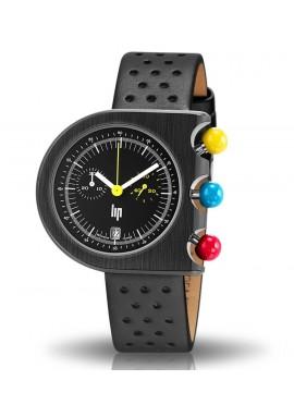 Mach 2000 chrono bracelet cuir noir perforé