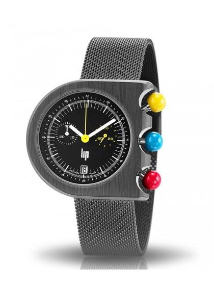 Mach 2000 chrono bracelet mailles milanaises noir