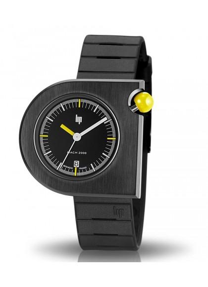 Mach 2000 bracelet caoutchouc bouton jaune