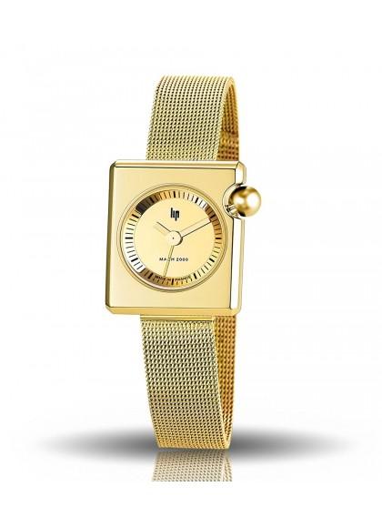 Mach 2000 mini bracelet milanais doré et cadran acier doré