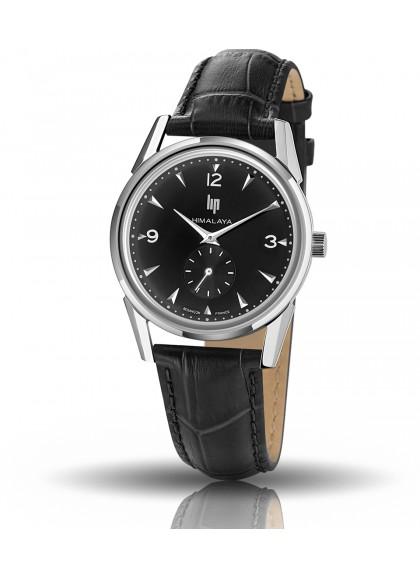 Himalaya cadran noir quartz bracelet cuir noir