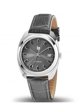GDG 39 mm bracelet cuir cadran noir